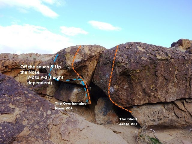 Rock Climbing Photo: New problem on short arete boulder
