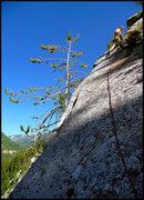 Rock Climbing Photo: Pitch 4, great clean slabbing