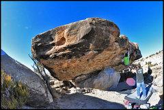 Rock Climbing Photo: Finishing The Ugly.