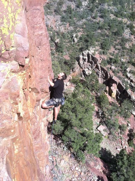 Rock Climbing Photo: Kyle on Surfing Quartzite