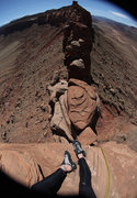 Rock Climbing Photo: Top of the East Face of Sunflower Tower...