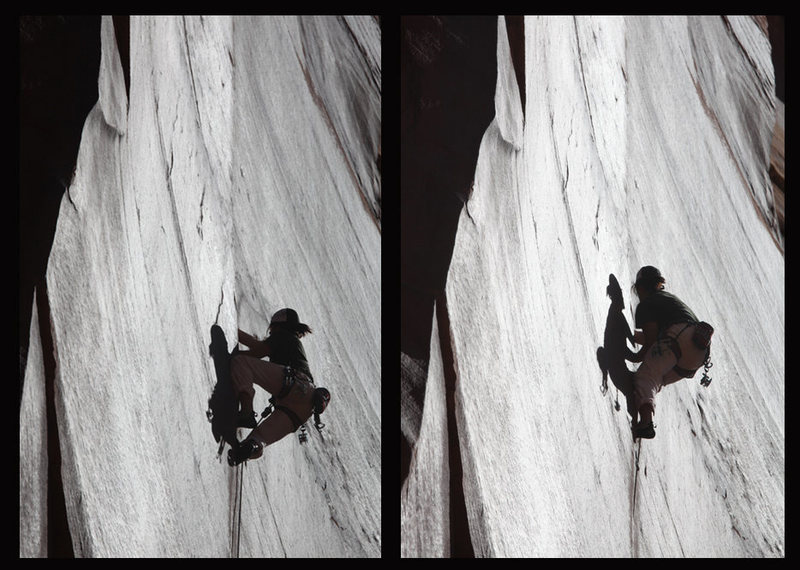 "Rock Climbing Photo: Blake on ""Super Crack of the Desert""; In..."