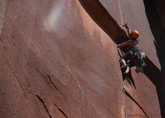 "Rock Climbing Photo: Jenni on ""Super Crack..."""