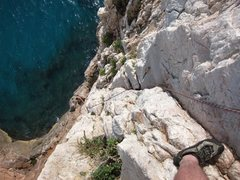 Rock Climbing Photo: Looking down Madunetta.