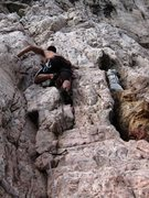 Rock Climbing Photo: Madunetta  Just left of the statue.