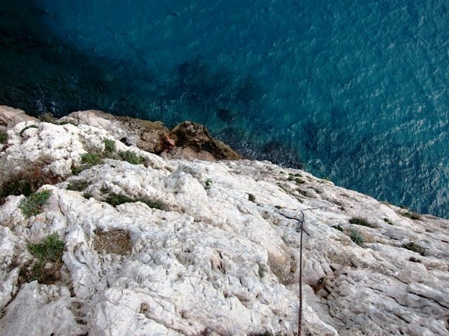 Rock Climbing Photo: Looking down Strie at Capo Noli