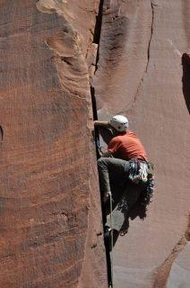 Rock Climbing Photo: Mantel Illness in Indian Creek