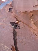 Rock Climbing Photo: on the FA
