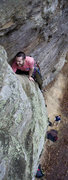 Rock Climbing Photo: Laughing about getting my foot stuck in the wide c...