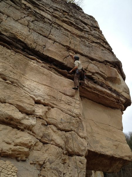 Rock Climbing Photo: Nice powerful move to start, with plenty of rest f...