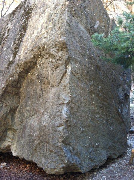 Rock Climbing Photo: House boulder NW corner
