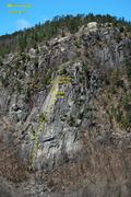 Rock Climbing Photo: Endeavour, 5.7, White's Ledge