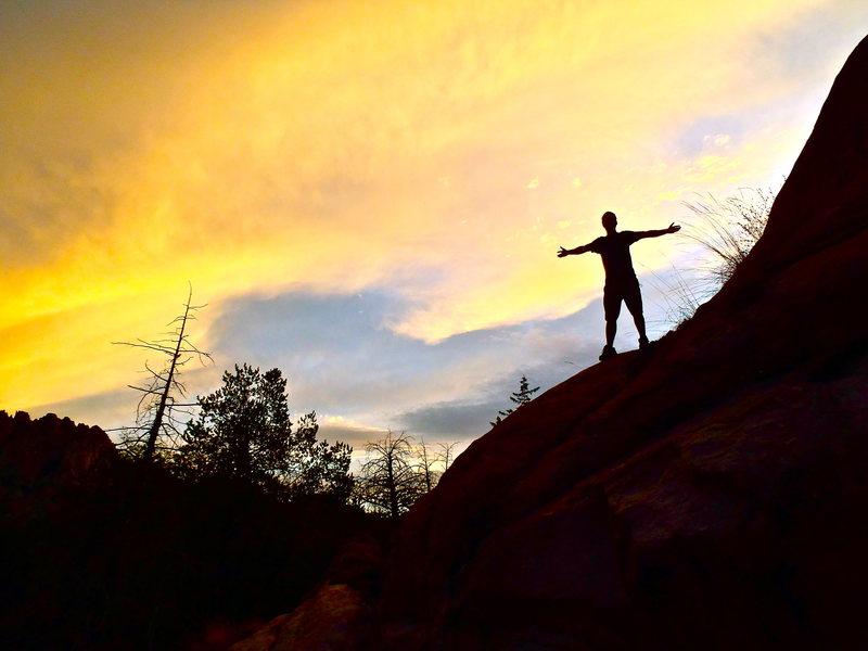 Rock Climbing Photo: sweet sonoran sunset