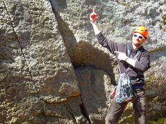 Rock Climbing Photo: bout to lead kiddy crack 5.7 first trad lead