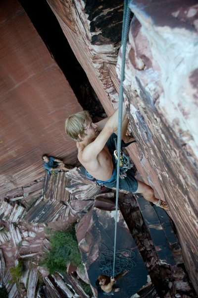 Rock Climbing Photo: Atman, 5.10 crack.