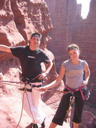 Rock Climbing Photo: Son Marshall and daughter Sue. Ancient Art. Probab...