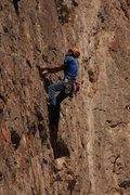 Rock Climbing Photo: Eric with no time for tears during his onsight of ...