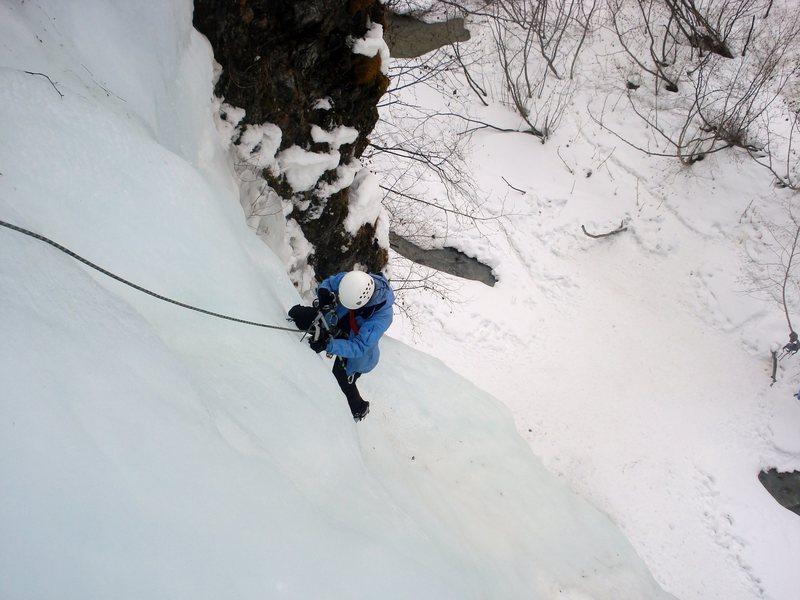 Rock Climbing Photo: Amy on the Ripple