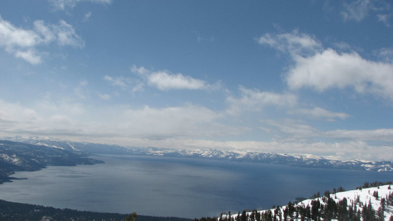 Tahoe is so big.
