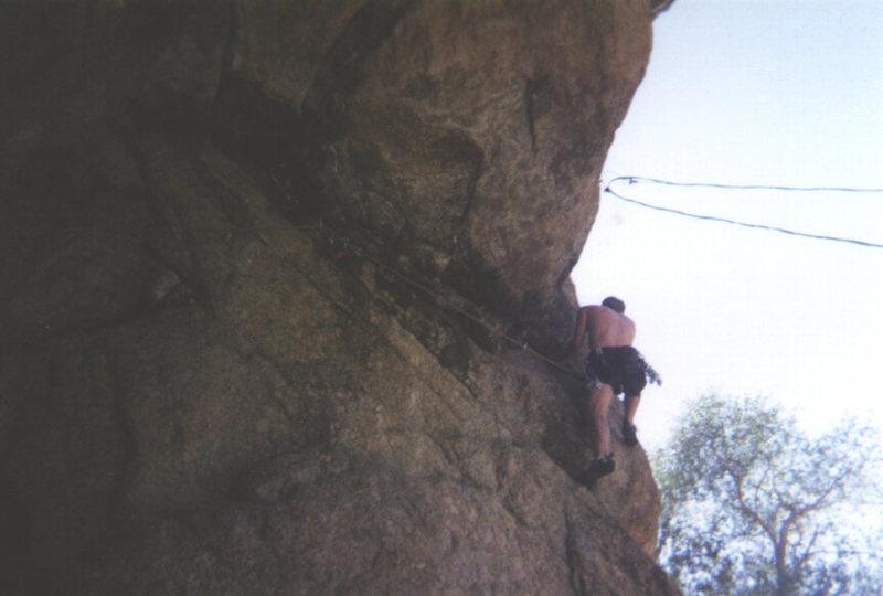 Rock Climbing Photo: Electric Moth. No Name, CO.