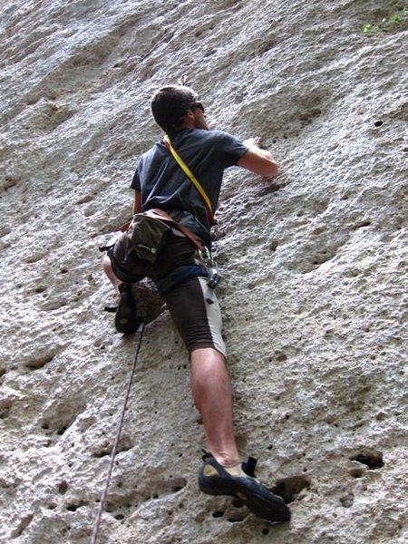 Rock Climbing Photo: Starting up Vasconi.