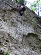 Rock Climbing Photo: Hoping for a little left in the tank past the crus...