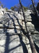 Rock Climbing Photo: Rhododendron crack.