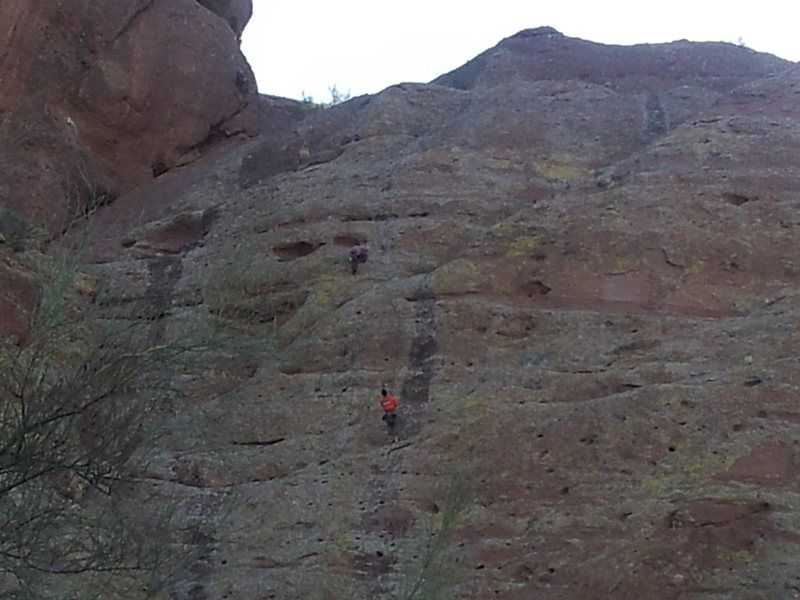 Lauren leading the second pitch