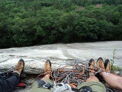 Rock Climbing Photo: Sliding Board, Whitehorse Ledges, NH