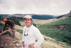 Rock Climbing Photo: yours truly on the Continental Divide
