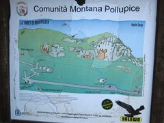 Rock Climbing Photo: Map at the parking lot of Monte Sordo