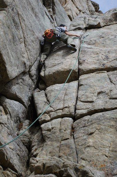 Rock Climbing Photo: Climbing with Bryan during spring break.