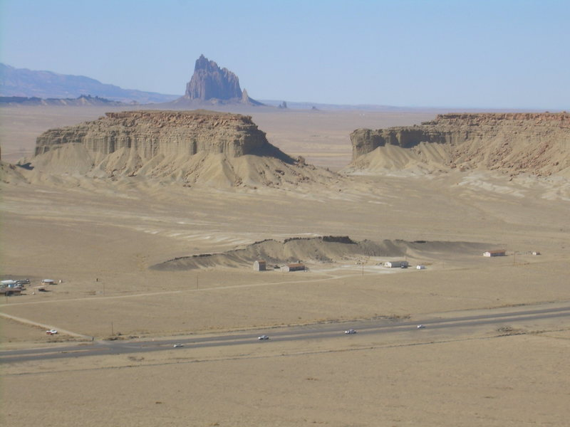 Rock Climbing Photo: Shiprock from the summit of Barber Peak