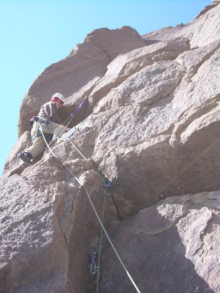 Rock Climbing Photo: Chrusher on the 2nd pitch.