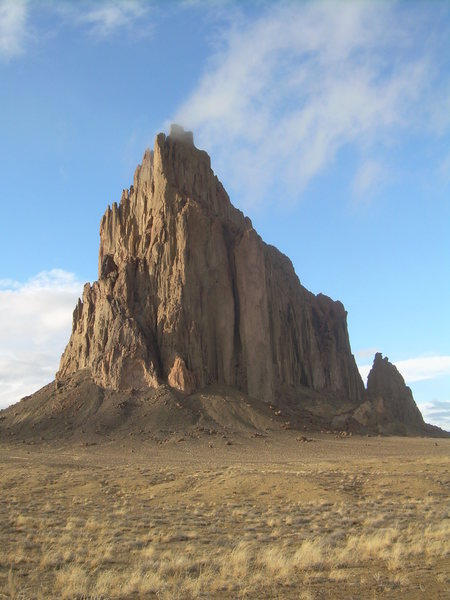 Rock Climbing Photo: Shiprock after the storm clears