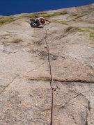 Rock Climbing Photo: Wyatt starting up the 2nd pitch