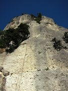 Rock Climbing Photo: Rappelling down from Fessura Oliva at the Settore ...