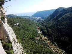 Rock Climbing Photo: The Urta Valley looking towards Finalborgo from Se...