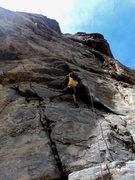 Rock Climbing Photo: Jon starting up Jonny.