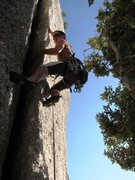 Rock Climbing Photo: Second pitch offwidth of Fessura Oliva