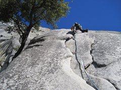 Rock Climbing Photo: Start of P3. Serenity Crack. 1/2012.  Photo: James...