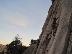 Rock Climbing Photo: Thin moves on Poodles Are People Too. 1/2012.  Pho...