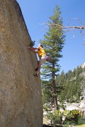 Rock Climbing Photo: Jeff Laina bouldering in Tuolumne Meadows. 2004.