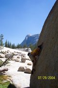 Rock Climbing Photo: Jeff Laina Bouldering in Tuolumne Meadows 2004.