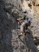 Rock Climbing Photo: Near the start of Breakfast of Champions 7a