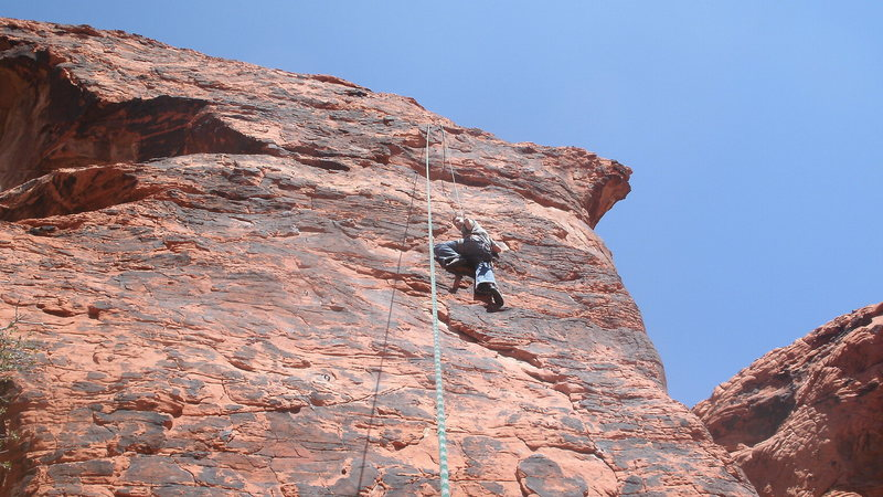 Rock Climbing Photo: working the moves