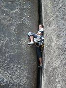 Rock Climbing Photo: Fissura Calafrio, a great offwidth.