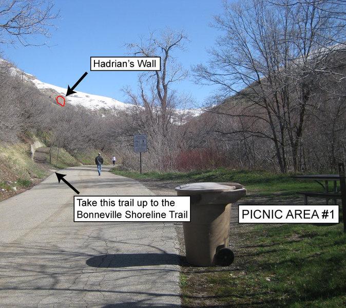 Rock Climbing Photo: Approach beta photo 1.