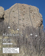 Rock Climbing Photo: Hadrian's Wall topo.