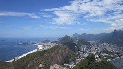 Rock Climbing Photo: The view from the summit of the Pao de Acucar.  In...